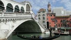 Rialto Bridge-Venice, Italy - stock footage