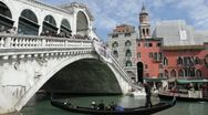 Rialto Bridge-Venice, Italy Stock Footage