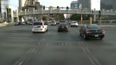 Time Lapse of Driving Down the Las Vegas Strip During the Day Stock Footage