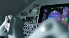 Inside the cockpit of a private jet Stock Footage