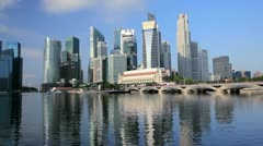 Singapore skyline, Marina Bay, South East Asia Stock Footage