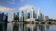 Stock Video Footage of Singapore skyline, Marina Bay, South East Asia