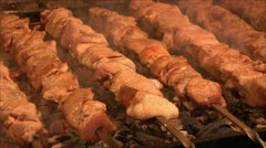 meat roasting in the oven 8 - stock footage