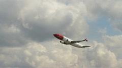 Passenger airplane take off Stock Footage