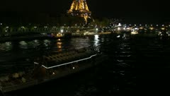 Blinking Eiffel Tower, Paris, France Stock Footage