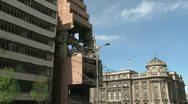 Belgrade, bombed Army Headquarters Stock Footage