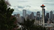 Stock Video Footage of Seattle Timelapse Space Needle -- HD