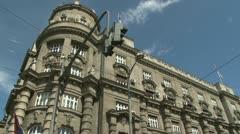 Belgrade, Serbian government Stock Footage