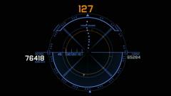 Radar GPS signal tech screen display,science sci-fi data computer navigation. Stock Footage