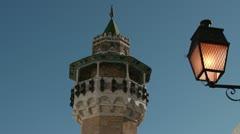 Minaret in Tunis Stock Footage