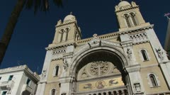 Cathedral of St. Vincent de Paul - stock footage