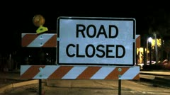 Road Closed Sign - stock footage