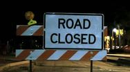 Stock Video Footage of Road Closed Sign