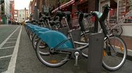 Stock Video Footage of City Bikes, Dublin