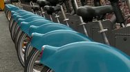 Stock Video Footage of City Bikes, Dublin, close up
