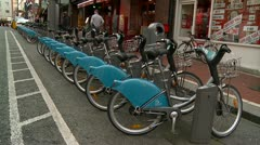City Bikes in Operation, Dublin Stock Footage