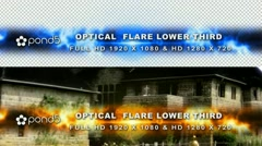 Stock After Effects of Optical Flare Lower Third