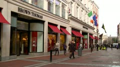 Grafton Street, Dublin, Ireland. Stock Footage