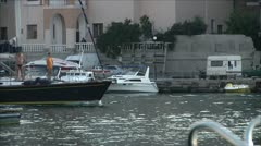 Harbor with boats and yachts 17 Stock Footage