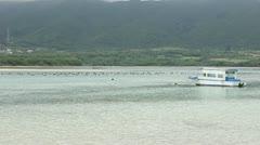Black pearl - Kabira bay on Ishigaki island Stock Footage