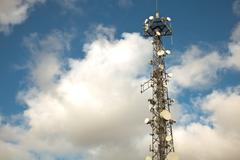 cell tower 2 - stock photo