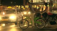 Bicycle in the City 1 Stock Footage