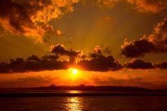 beautiful sunset 2 - stock photo