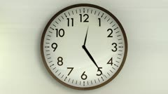 Wall Clock 1080HD Stock Footage