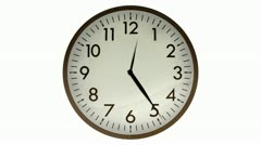 Wall Clock Alpha 1080HD Stock Footage