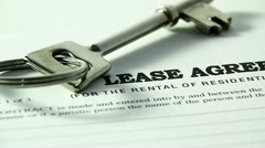 key on property lease - stock footage
