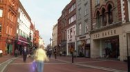 Stock Video Footage of Busy shopping street Timelapse