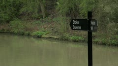 Canal Sign Stoke Bruerne Stock Footage