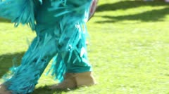 Blue Dancing Feet Close Up Stock Footage