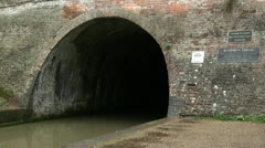 Blisworth Tunnel Entrance on the Grand Union Canal Stock Footage