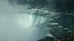 Niagara Waterfall aerial - stock footage