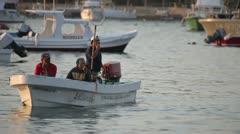 Fishermen boat fish mexico coast Stock Footage