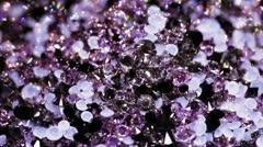 Many small brilliant jewel stones rotating, luxury background - stock footage