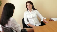 Conversation In The Office Stock Footage