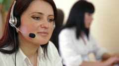 Female Customer Service Stock Footage