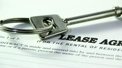 property lease agreement - stock footage