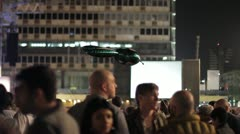 504 people gather in town square in Tel-Aviv Stock Footage