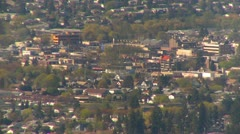 Downtown Vernon, long shot, 1200' above Stock Footage