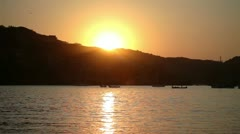 Zihuatanejo sunrise mexican paradise Stock Footage