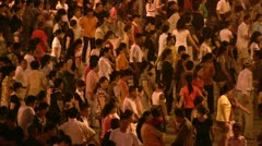 Group of people are dancing in China - stock footage