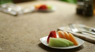 Stock Video Footage of Breakfast fresh fruit plate - 1080p