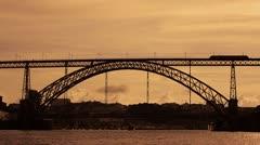 Dom Luis I bridge Stock Footage