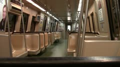 Empty Train Car Stock Footage