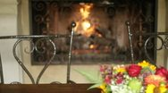 Stock Video Footage of Outdoor fireplace in Sonoma - 1080p