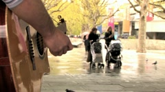 Busking on the South Bank HD Stock Footage