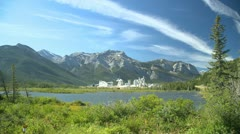 Industry, cement plant in Bow valley, wide shot Stock Footage